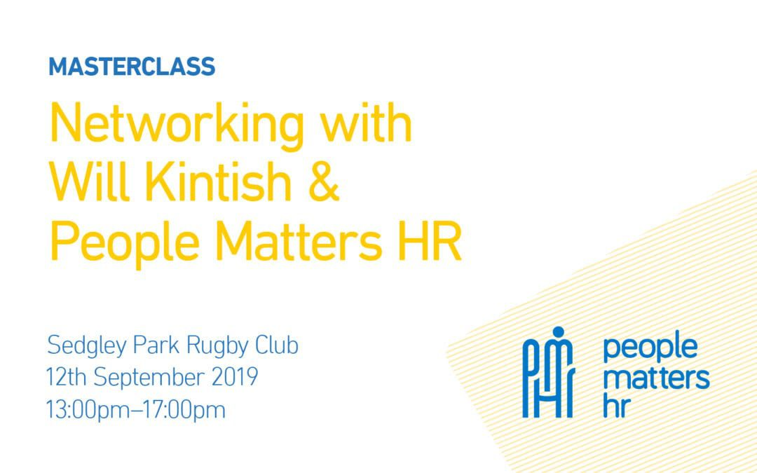 Masterclass: Networking with Will Kintish