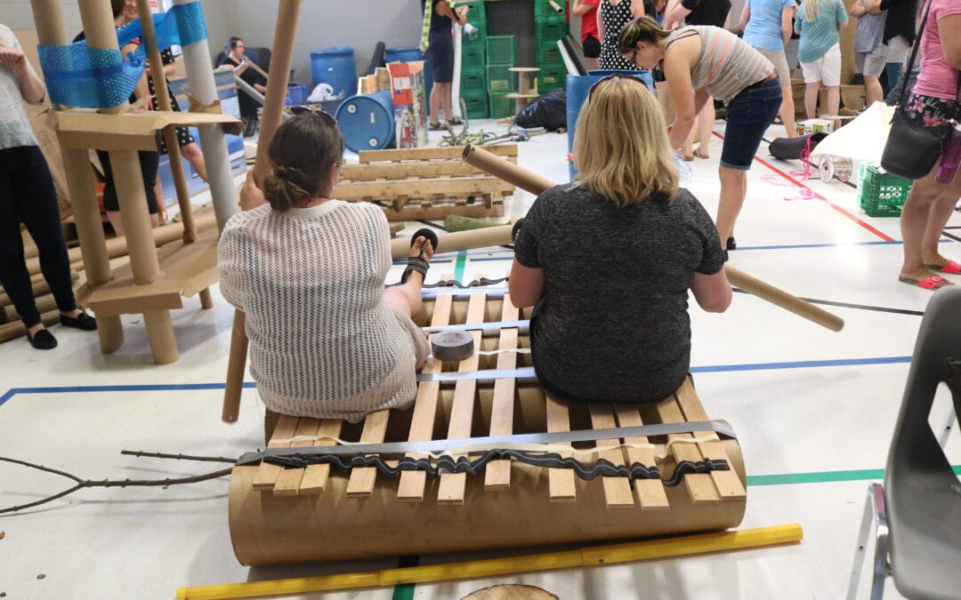 Pop-Up Adventure Play's Adult Play Course