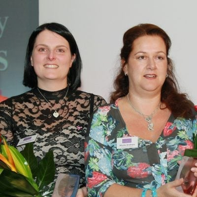 2013 Community Award Winners Joanne Thompson & Nicola Graham